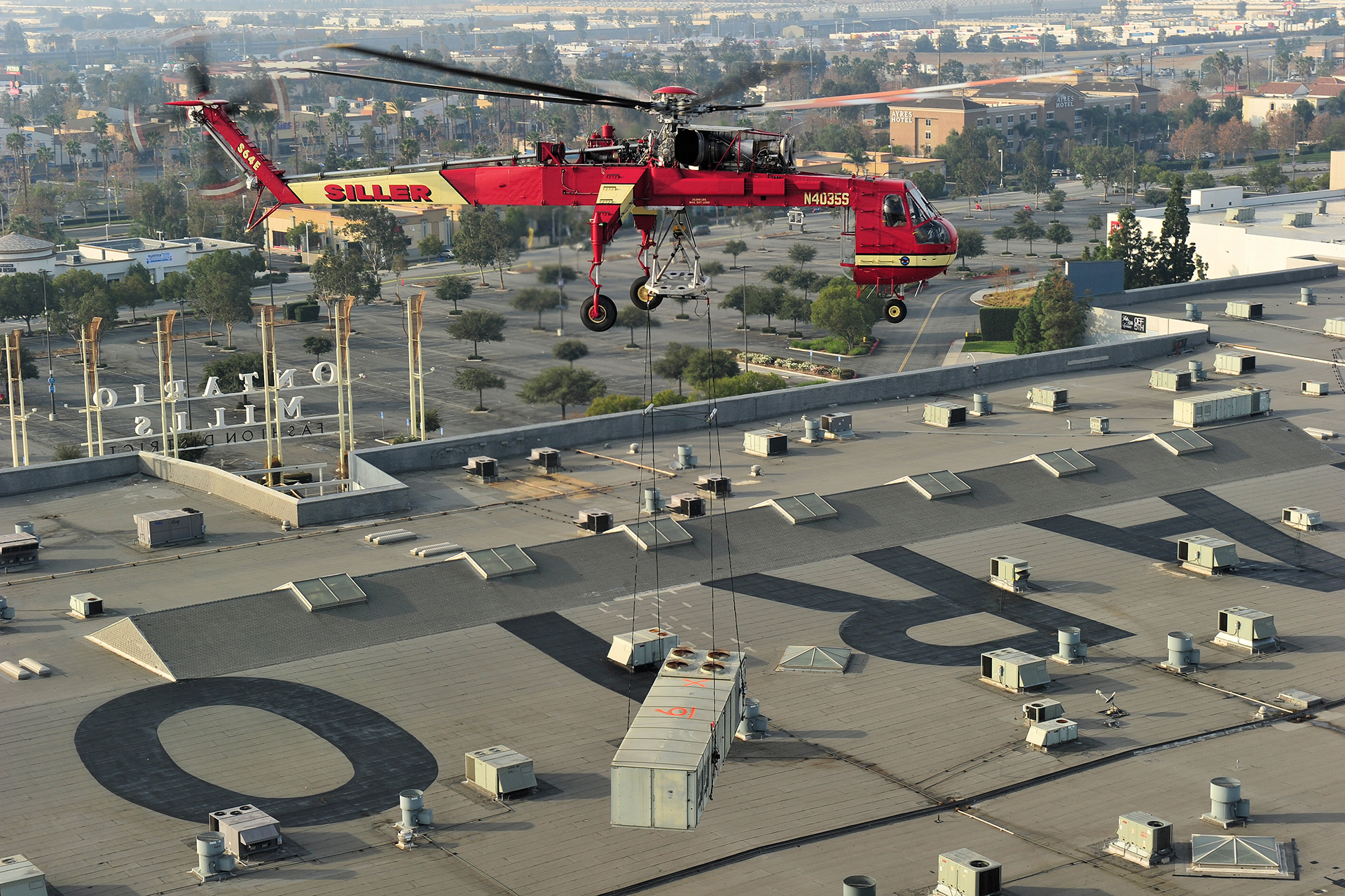 Rooftop Helicopter Lift